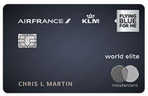 credit card art for air france KLM bank of america