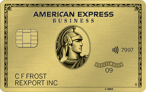 American Express Gold Business Credit Card Art