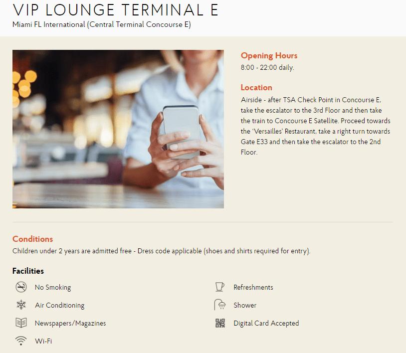 VIP Lounge Terminal E Miami