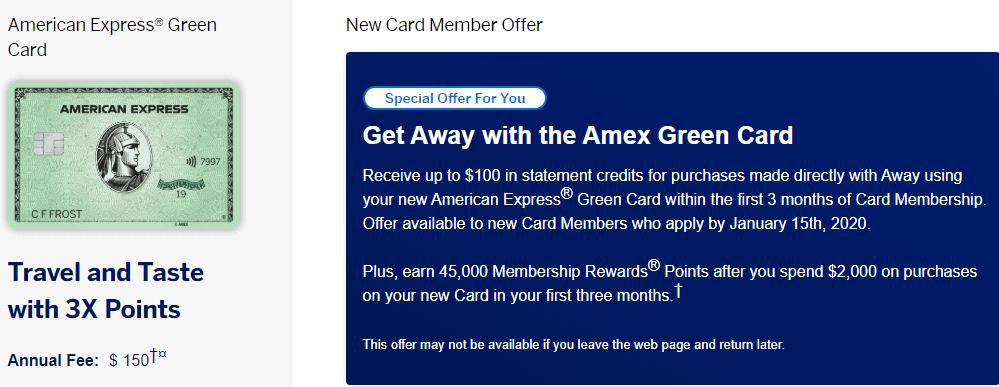 Amex Green 45k