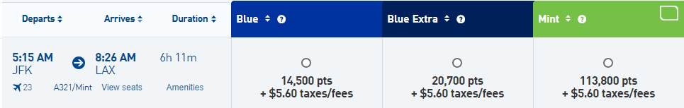 JetBlue Points for Flights