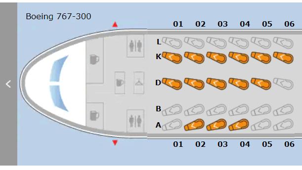 United older seat map