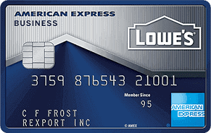 Lowes Business Rewards American Express Credit Card