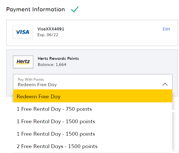 Hertz Use Points