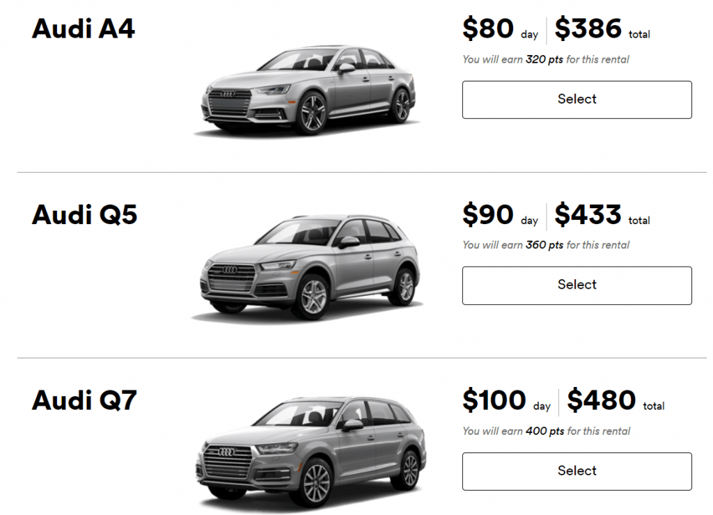 SilverCar Pricing Audi Dealerships