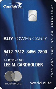 Capital One GM Buypower card
