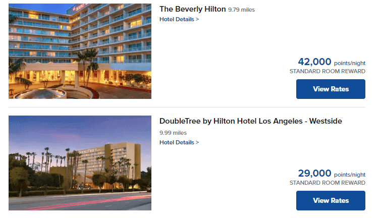Hilton Points Hotel Stay Cost
