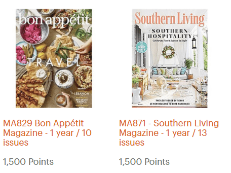 IHG Use points for magazines