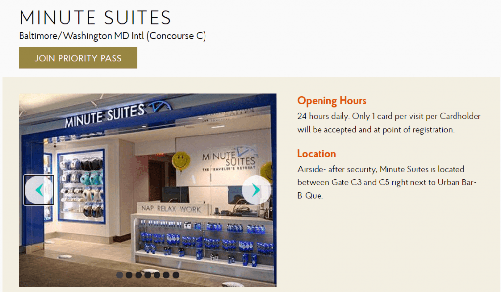 Minute Suites BWI Priority Pass