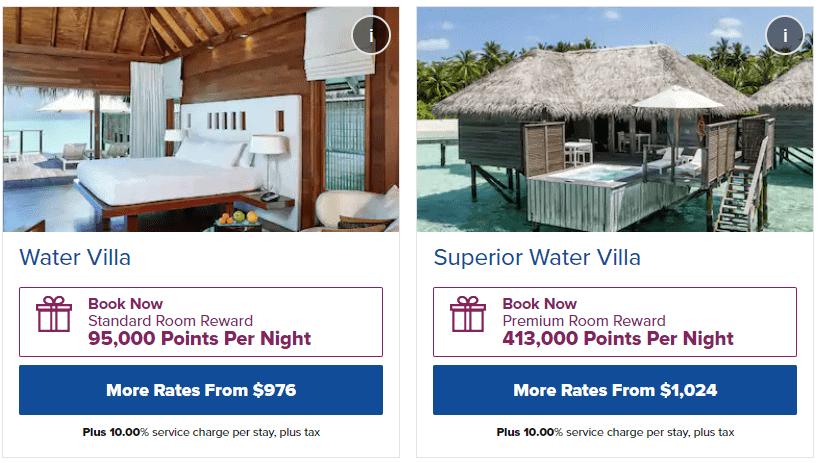 Standard vs. Premium Room Awards