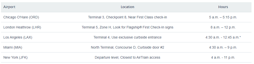 Flagship First Check-in