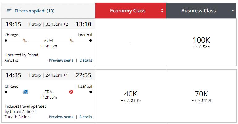 Aeroplan Pricing Partners 1
