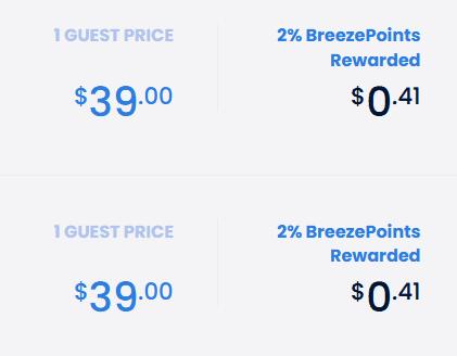 Breeze Points Earn