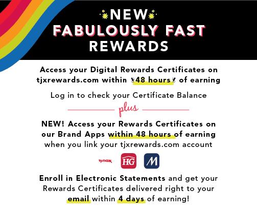JX Rewards Online Certificates